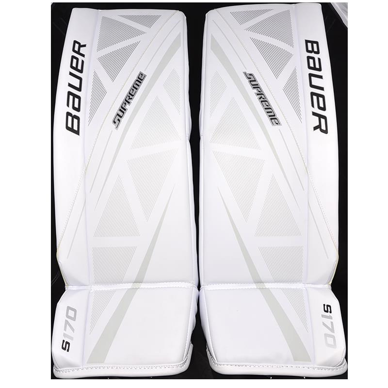 Goalie Leg Pads BAUER Supreme S170 Jr - WHT - SHOP-HOCKEY COM
