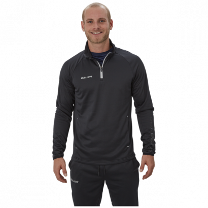 Hoodie BAUER VAPOR FLEECE 1/4 ZIP TOP BLK-SR