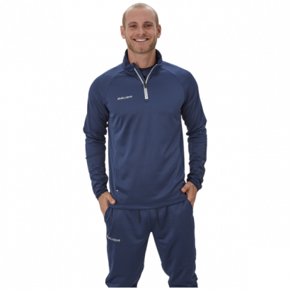 Hoodie BAUER VAPOR FLEECE 1/4 ZIP TOP NAV-SR