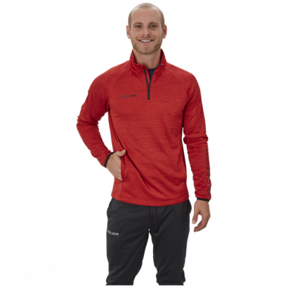 Hoodie BAUER VAPOR FLEECE 1/4 ZIP TOP RED-SR