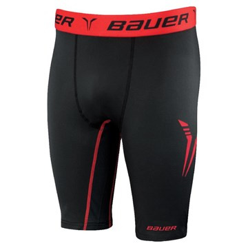 BAUER CORE COMPRESSION BL SHORT S-17 SR-BLK