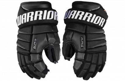 Hockey Gloves WARRIOR ALPHA QX SR BLACK (BK)