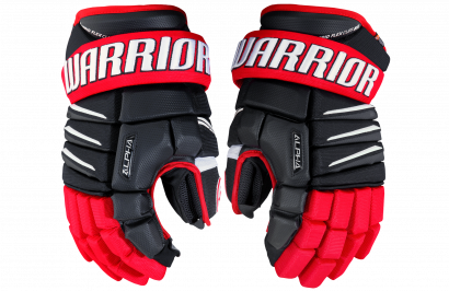 Hockey Gloves WARRIOR ALPHA QX SR BRW (BK/RD/WH)