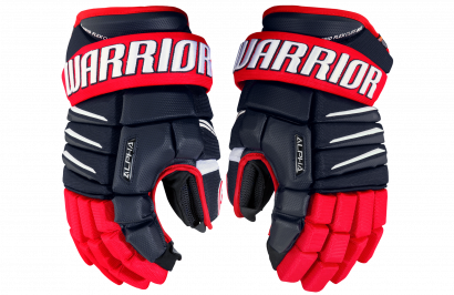 Hockey Gloves WARRIOR ALPHA QX SR NRW (NV/RD/WH)