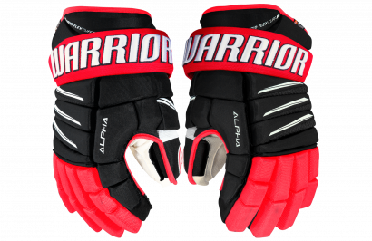 Hockey Gloves WARRIOR ALPHA QX PRO SR BRW (BK/RD/WH)