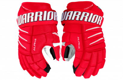 Hockey Gloves WARRIOR ALPHA QX PRO SR RDW (RED/WHITE)