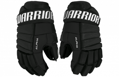 Hockey Gloves WARRIOR ALPHA QX3 SR BK (BLACK)