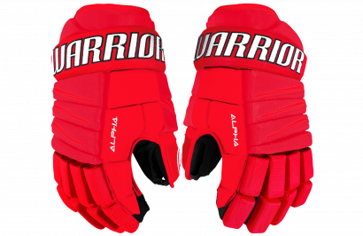 Hockey Gloves WARRIOR ALPHA QX3 JR RDW (RD/WHITE)