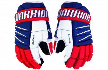 Hockey Gloves WARRIOR ALPHA QX3 JR RRW (RL/RD/WH)