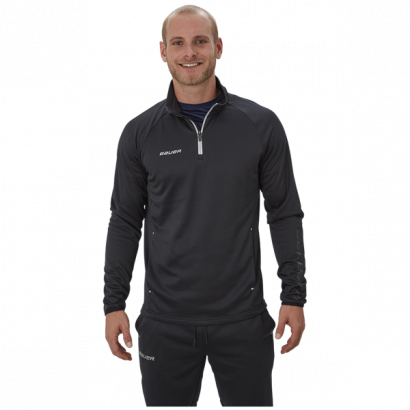 Mikina BAUER VAPOR FLEECE 1/4 ZIP TOP BLK-YTH